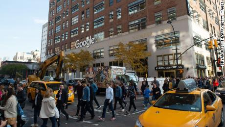 The Google walkout, shown here in New York, has since emboldened workers at other companies to also push for change. (Bryan R. Smith/AFP/Getty Images)