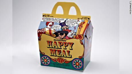 McDonald's first Happy Meal box.