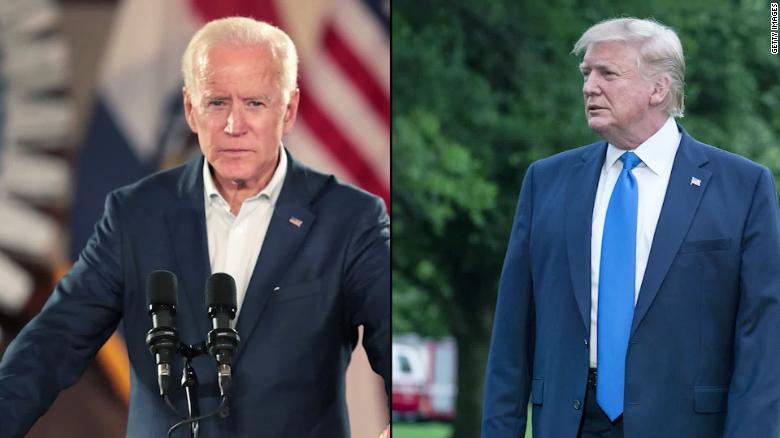 Trump trails Biden but leads Warren in battlegrounds