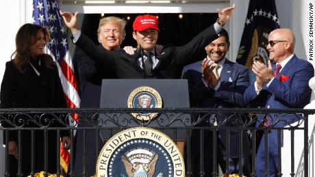 Nationals Player Honors Trump in White House Celebration