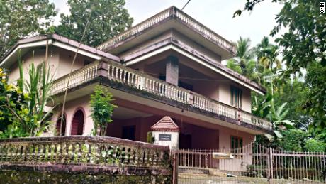 The exterior of Jolly Joseph's house in Koodathai.