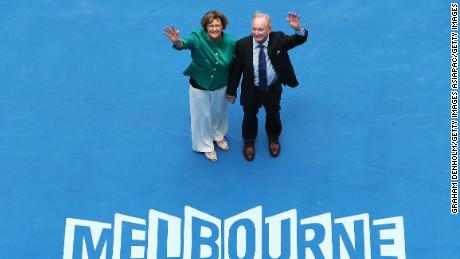 Margaret Court and Rod Laver attend the Australian Open opening ceremony in 2015.