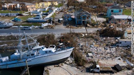 A view of damage left by Hurricane Dorian in Marsh Harbor, Great Abaco in September.