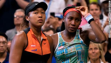 Naomi Osaka (left) and Coco Gauff clashed in an epic US Open encounter earlier this year. Now, they join forces to help bring relief to the people of the Bahamas.