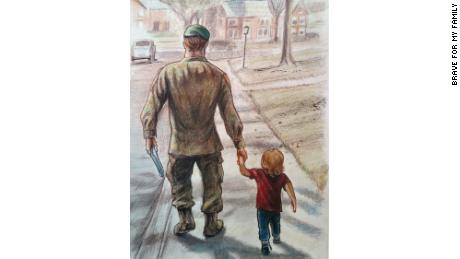 Davidson and his dad, as illustrated by his father in a book they wrote together.