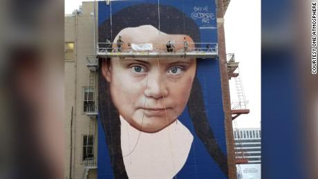 Teen Climate Activist Greta Thunberg Gets Huge Mural In Downtown SF
