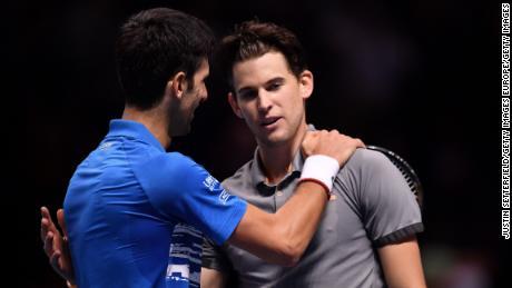Novak Djokovic perd son adversaire face à Roger Federer lors de la finale de l'ATP