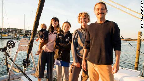 Greta Thunberg hitches ride across the Atlantic on Australian YouTubers' sailing boat