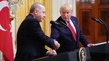 President Donald Trump and Turkish President Recep Tayyip Erdogan take part in a White House press conference in November 2019.