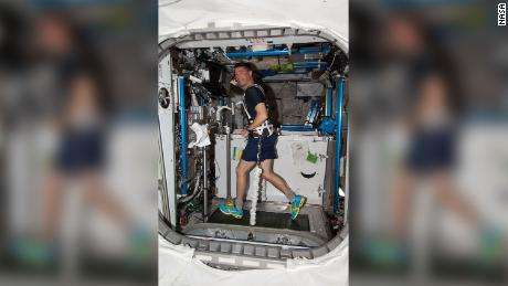 NASA astronaut Reed Wisman works on the ISS during the 40th expedition.