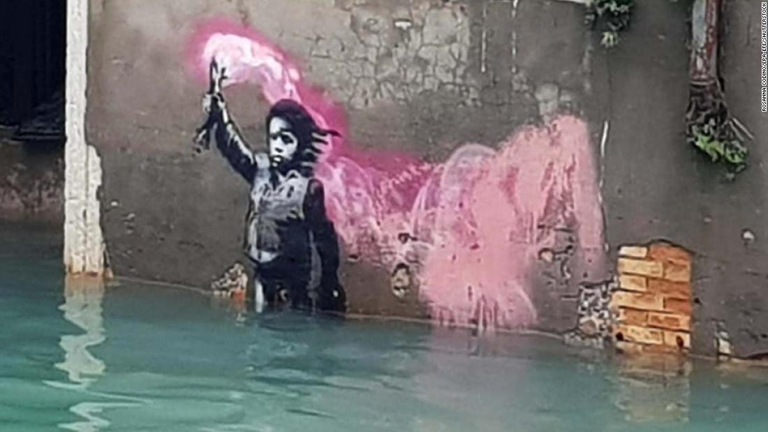 Banksy Βενετία τέχνη τώρα κάτω απ'το νερό