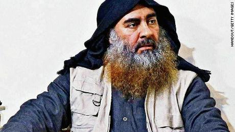 ISIS leader Abu Bakr al-Baghdadi is seen in an undated handout image provided by the US Department of Defense.