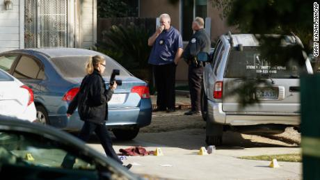 Investigators returned to the scene of the deadly shooting on Monday.