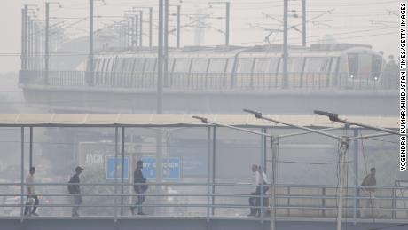 Gurgaon is consistently ranked among the world's most polluted cities, and the crisis appears to be getting worse. (Chandan Khanna/AFP/Getty Images)