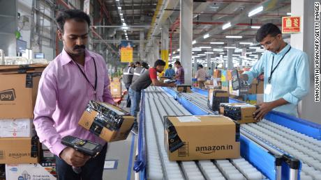 India's top online retailers are on a mission to increase the amount of recycled material in their packaging. (Manjunath Kiran/AFP/Getty Images)