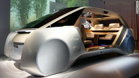 The Autonomous Living Space Cabin, a design concept that Panasonic had at its 2018 CES booth.