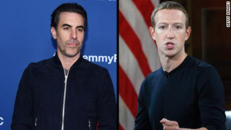 Sasha Baron Cohen uses example of Hitler in dig at Facebook