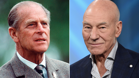 Prince Philip and Patrick Stewart.