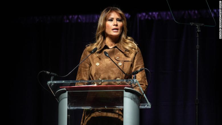 Melania Trump booed, cheered as she tells students to avoid misusing drugs