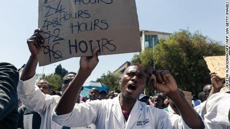 Poor conditions in hospitals is causing 'silent genocide', Zimbabwe medics on strike say