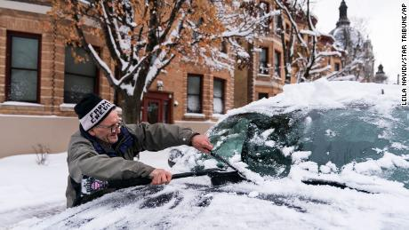 City officials declared a snow emergency in Minneapolis and St. Paul, Minnesotta on Wednesday.
