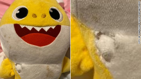 A Baby Shark stuffed toy saved a toddler's life during a gunfight