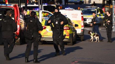 Armed police near Borough Market.