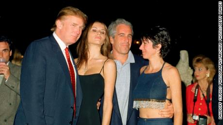 US President Donald Trump was pictured with Melania Trump, Jeffrey Epstein and Ghislaine Maxwell on February 12, 2000.