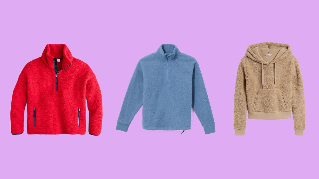 Fleece pullovers are trending, and here are 15 pieces we love