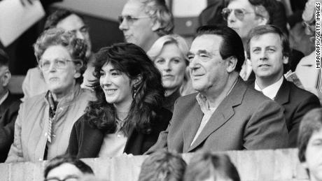 Robert Maxwell and his daughter Ghislaine pictured together in 1984.