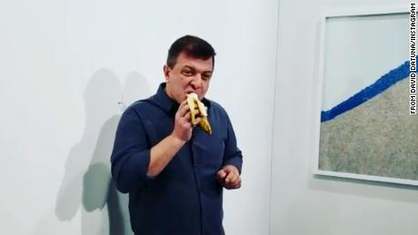 Man who ate the $120,000 banana art installation says he isn't sorry and did it to create art