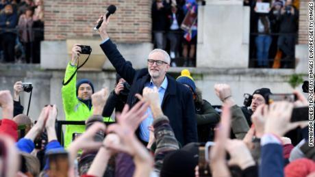 Jeremy Corbyn campaigns in Bristol on Monday.