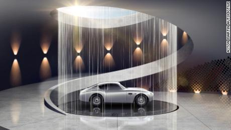 A concept design by Aston Martin of a car on display in the home.