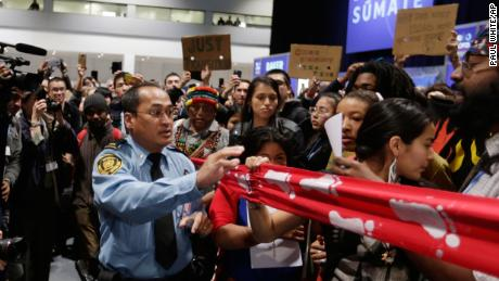 Protests broke out over the lack of climate action at the conference.