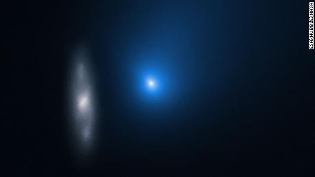 Hubble catches interstellar comet as it flies past the sun