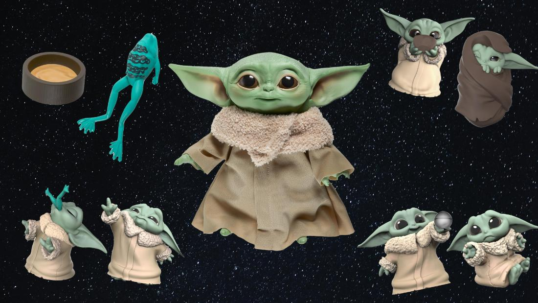 Hasbro has the talking Baby Yoda plush we've been looking for