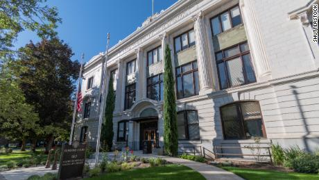 Justice Building in Salem which houses the Oregon Supreme Court and the Oregon Court of Appeals