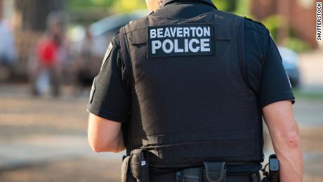 A police officer in Beaverton, Oregon