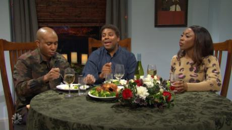 "Cris Redd, Kenan Thompson and Ego Nwodim play a family in Atlanta on ""SNL."""