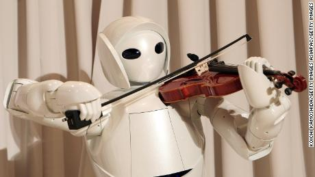 Toyota developed a violin-playing robot in 2007.