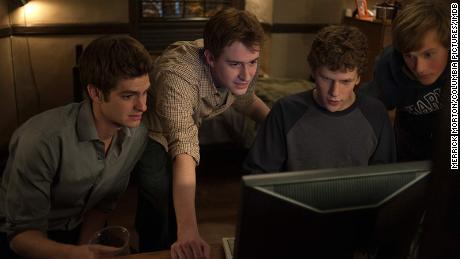 A scene from David Fincher's award-winning film on the creation of Facebook.