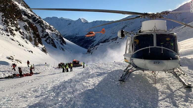 Three killed in avalanche on Italian alps