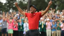 Tiger Woods is ecstatic after winning the 2019 Masters.