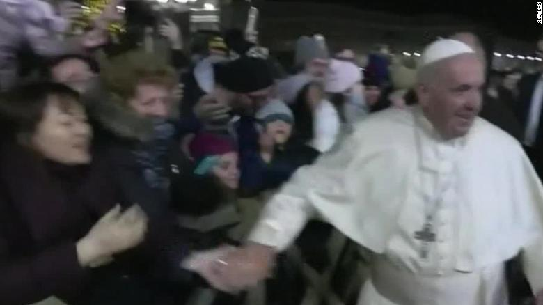 Pope slaps pilgrim in shocking New Year incident