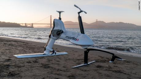 This half-bike, half-plane has been under development for eight years.