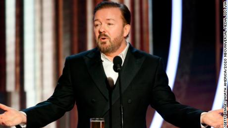 Ricky Gervais hosted the show for a fifth time