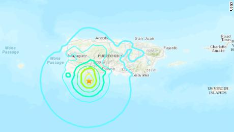 5.7-magnitude quake strikes Puerto Rico, damage reported