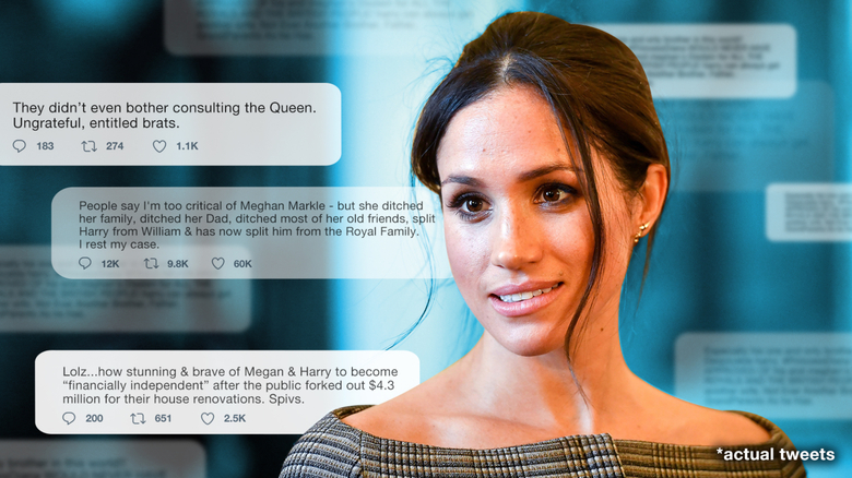 Coming or going, Meghan gets the blame -- and it's because of her race