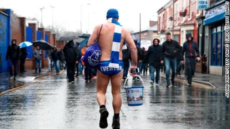 Cullen has been wearing his Speedo's and shaking his bucket at Everton matches to raise money for charity for years now.