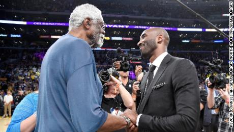 Bryant says he learned how to deal with racism from the example of icons like NBA star Bill Russell.